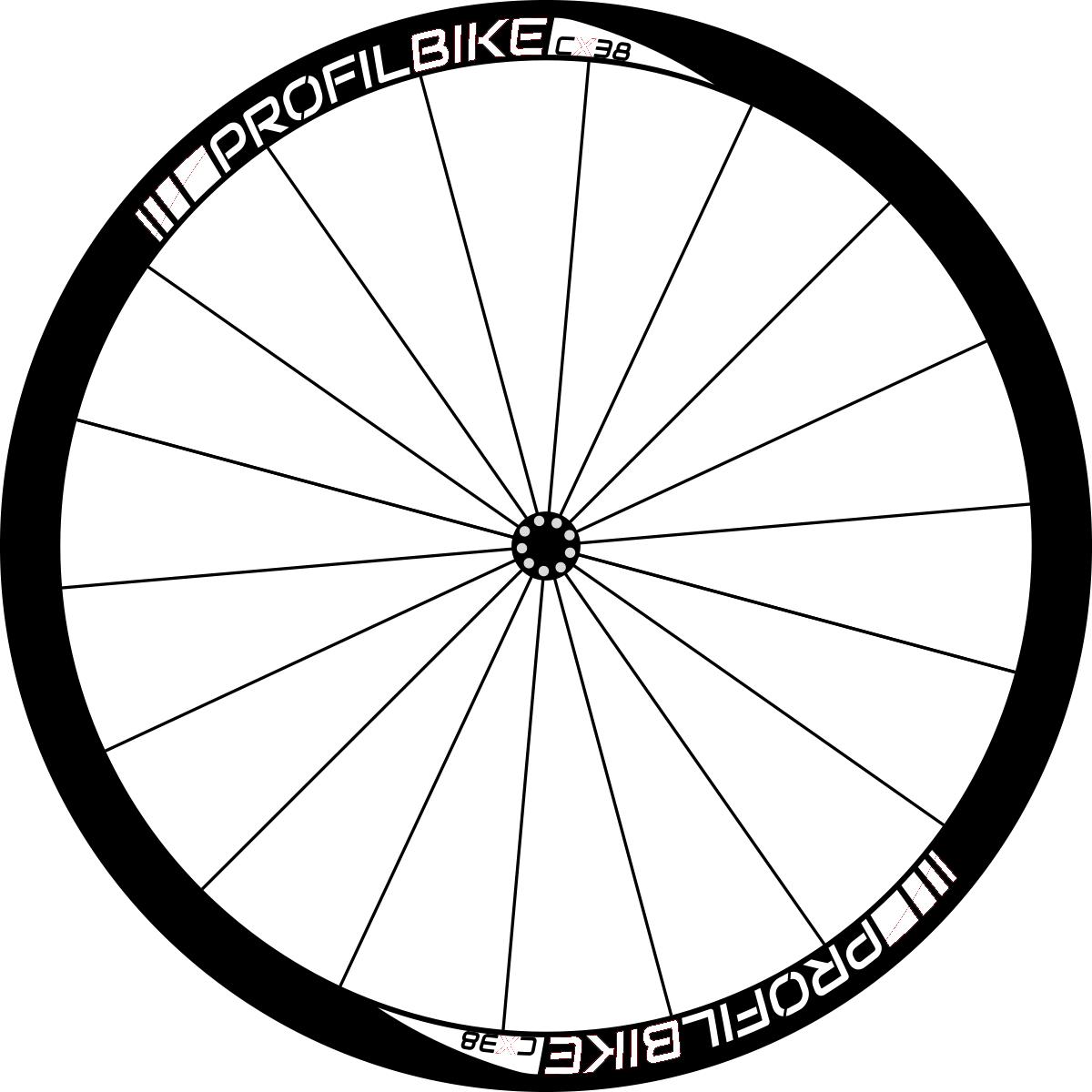 Profilbike CX38 CARBON DISC design personnalisé