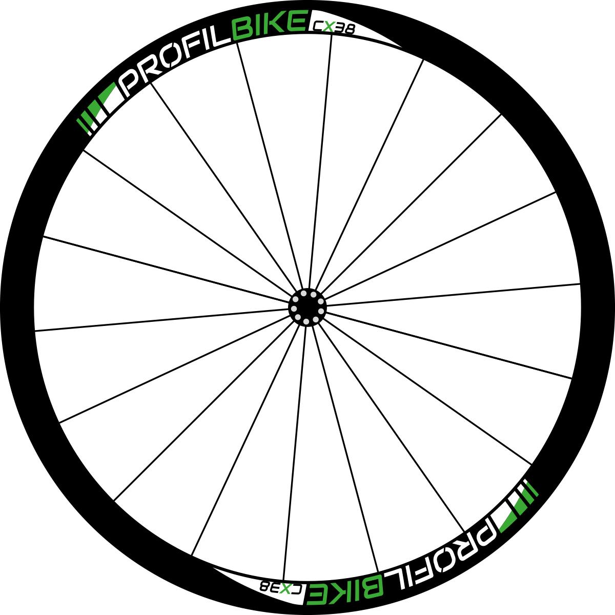 Profilbike CX38 CARBON DISC design vert