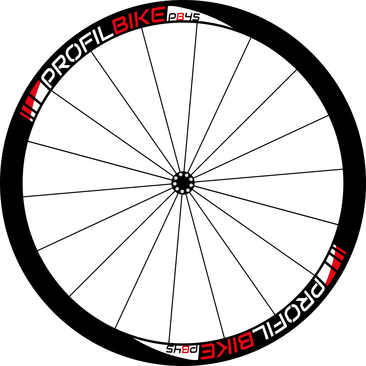 Profilbike PB45 CARBON DISC design rouge