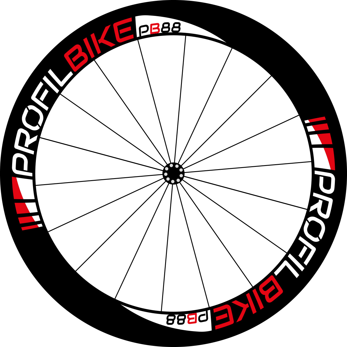 Profilbike PB88 CARBON DISC design rouge
