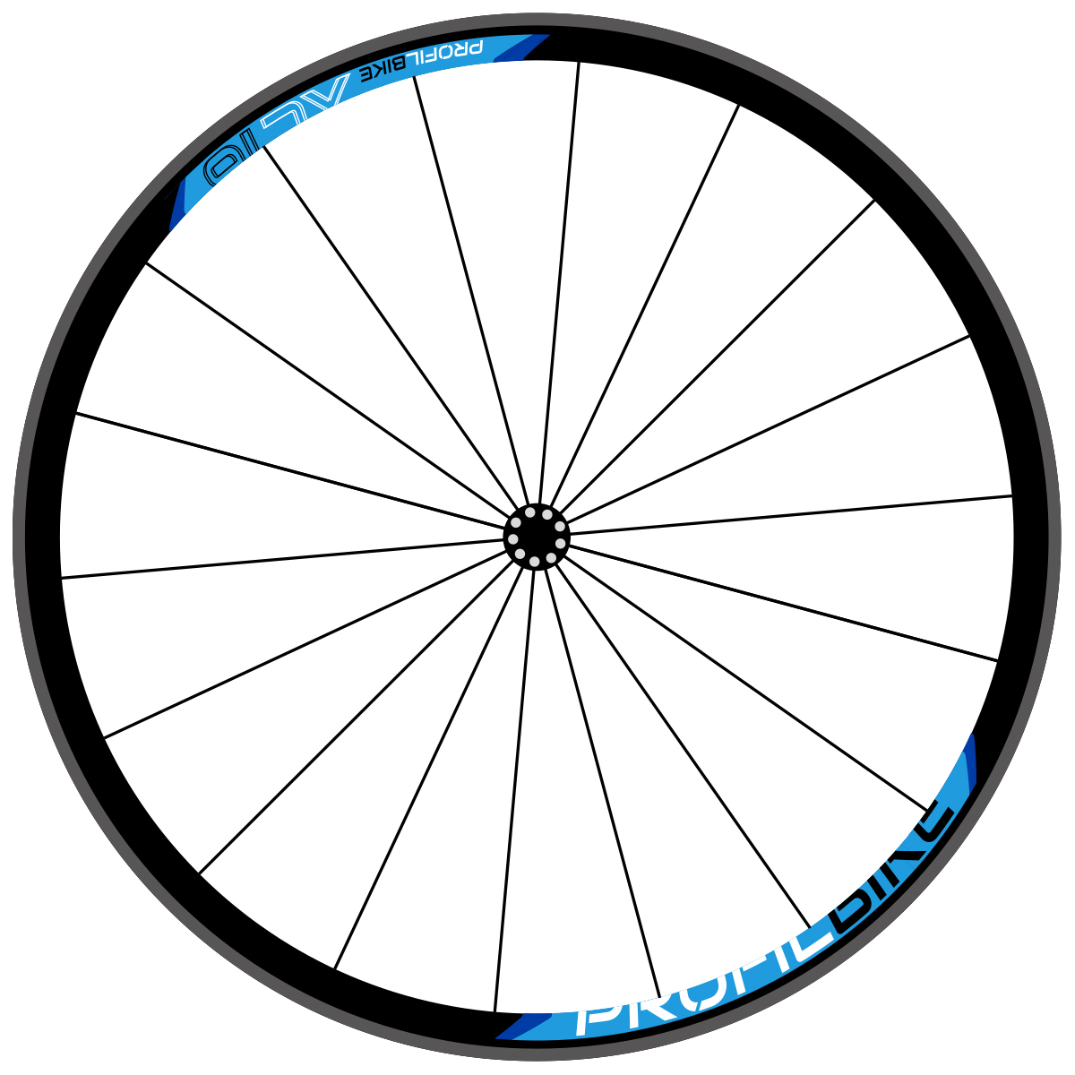 Profilbike XC16 design bleu